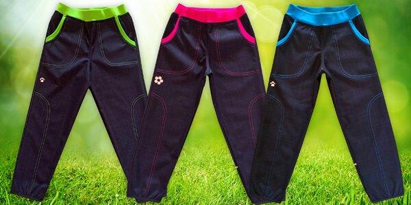 Jarní softshellové kalhoty značky Gudo pro děti