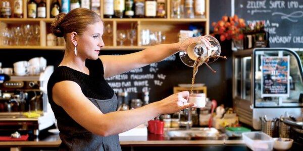 Filtrovaná káva pro jednoho i dva vč. sladké tečky
