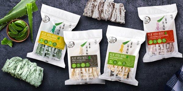 Zdravé jídlo: aloe vera nudle se 4 druhy omáček