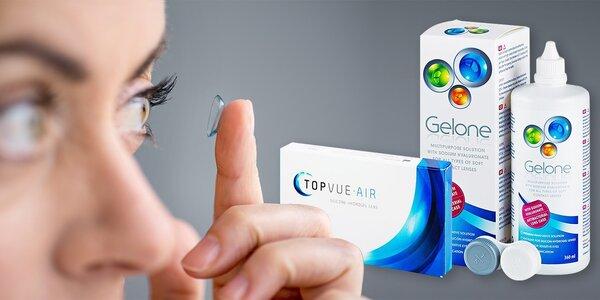 6 kontaktních čoček TopVue i s roztokem Gelone