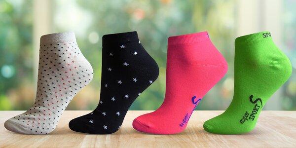 Dámské kotníkové ponožky: reflexní nebo vzorované
