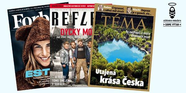 Dáme výtah: předplatné časopisů Forbes, Téma, Reflex