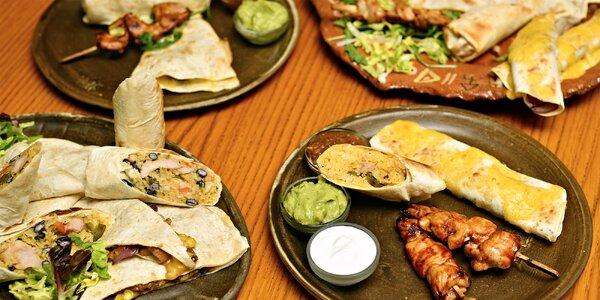Mexické plato: burrita, quesadilly a další dobroty