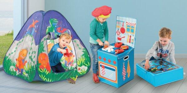 Zábavné boxy na hračky nebo stany na hraní