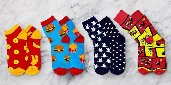 Dámské, pánské i dětské ponožky s veselými motivy