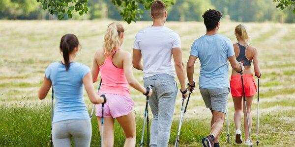 2hodinový Nordic walking s instruktorkou