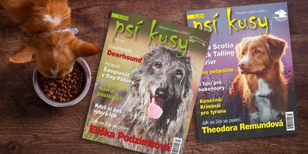 Roční předplatné časopisu Psí kusy s bonusem