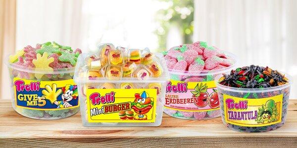 Boxy gumových bonbónů značky Trolli: 7 druhů