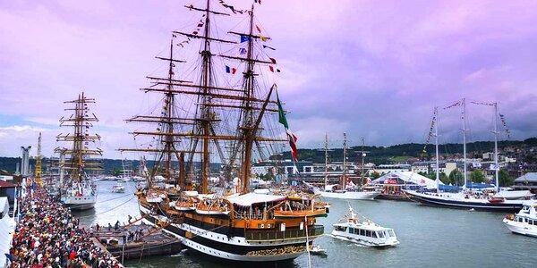 Paříž a Rouen v době námořního festivalu L'Armada
