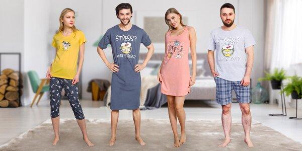 Dámská i pánská 2dílná pyžama i noční košile