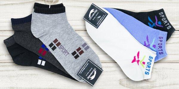 Pánské a dámské kotníkové ponožky TexBase