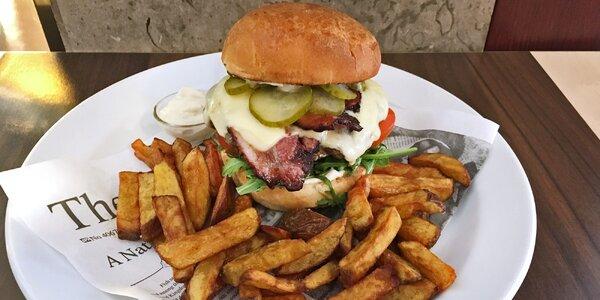 Cheeseburger s farmářskými hranolky pro 1 i pro 2