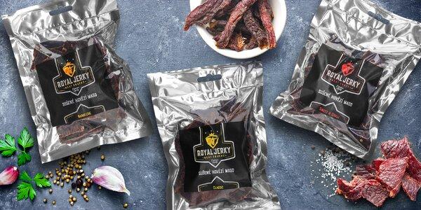 Prémiové sušené hovězí maso Royal Jerky