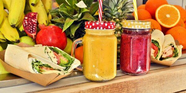 Fresh džus nebo smoothie i wrap pro 1 či 2 os.