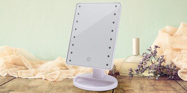 Nastavitelné stolní zrcadlo s LED osvětlením