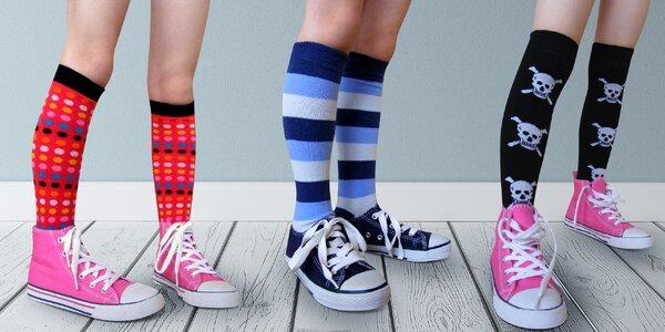3 páry dětských podkolenek s různými motivy