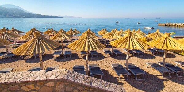 7 nocí v Černé Hoře: hotel u pláže a polopenze