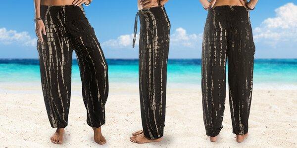 Pohodlné harémové kalhoty z Bali ve 4 barvách