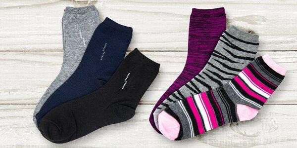 Pánské a dámské ponožky TexBase: puntíky i melír