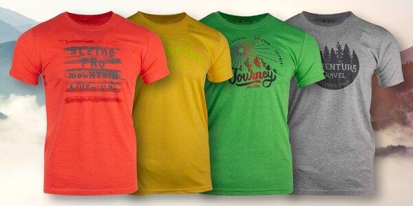 Pánská trička Alpine Pro s nápisy ve 4 barvách
