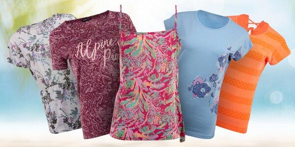 Dámská trička Alpine Pro s nápisy i se vzorem