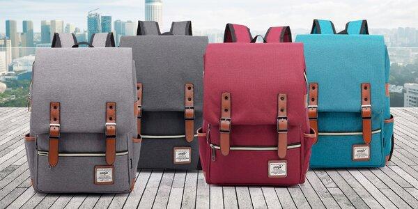 4f0436f3b2 Trendy retro batoh v šesti barvách