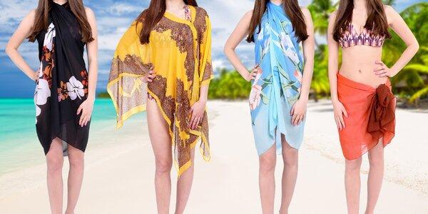 Vzdušné a lehké plážové pareo šátky