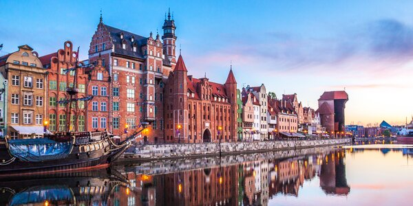 Historický Gdaňsk s polopenzí 100 metrů od pláže