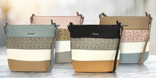 Pruhované dámské crossbody kabelky v 5 barvách