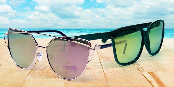 Sluneční brýle s barevnými i zrcadlovými skly