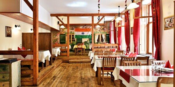 Indické masové i vegetariánské menu pro 2 os.