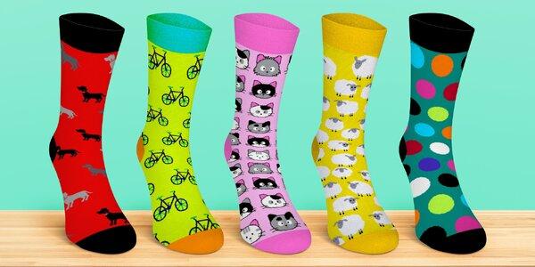 Pánské i dámské ponožky s veselými motivy