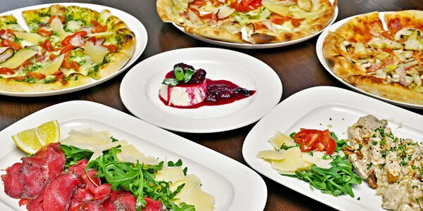 Vouchery na 250–1000 Kč do italské restaurace