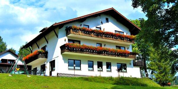 Bavorská strana Šumavy s polopenzí i saunou