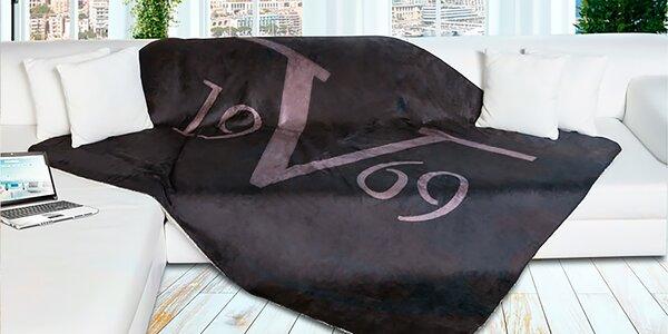 Fleecová deka 200 x 150 cm italské značky 19V69