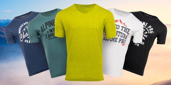 Pánská bavlněná trička Alpine Pro: S–XXXL