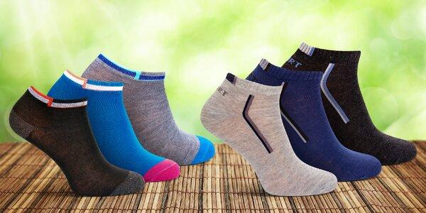 12 párů dámských a pánských kotníkových ponožek