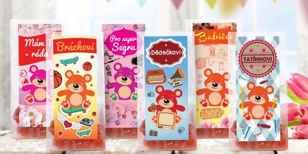 Medvídkové čaje s přáním k svátku i narozeninám