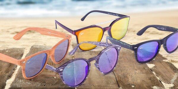 Sluneční brýle Kašmir s imitací dřeva