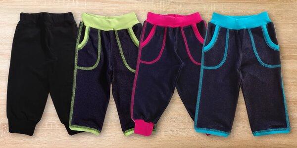 Dětské kalhoty Gudo: 3/4 střih i pumpky