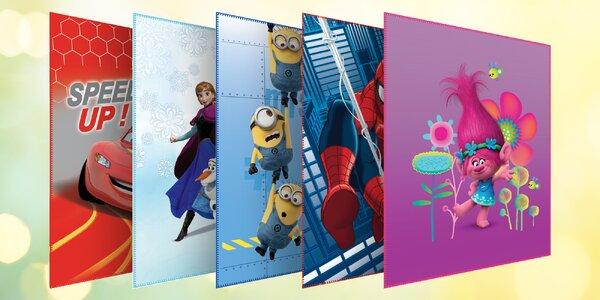 Dětské deky 110 x 140 cm s animovanými hrdiny