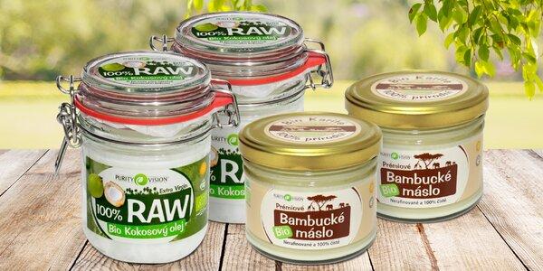 100% kokosový olej či bambucké máslo, 1 + 1 zdarma