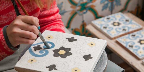 Malování keramické kachličky pro děti i dospělé