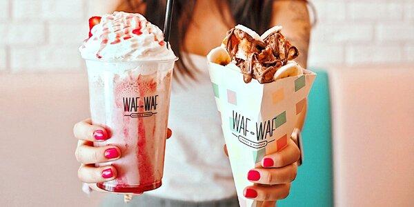 Milkshake podle výběru a vafle s nutelou
