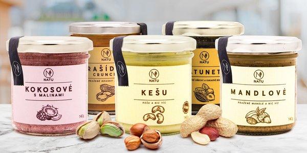 Ořechový krém Natu: arašídový, mandlový i kešu