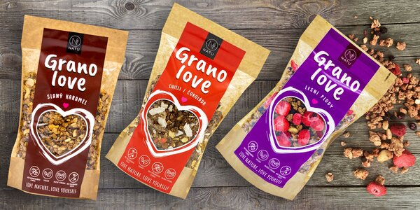Směs Natu Granolove: slaný karamel i čokoláda