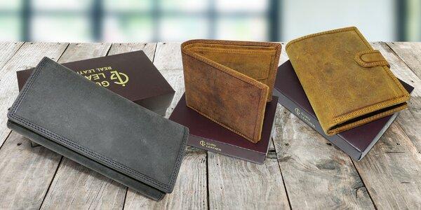Dámské a pánské peněženky z pravé hovězí kůže
