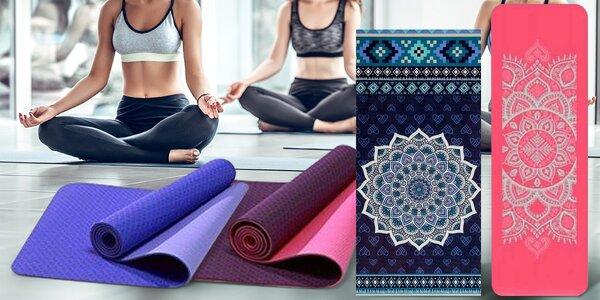Podložky na jógu s mandalou i protiskluzové