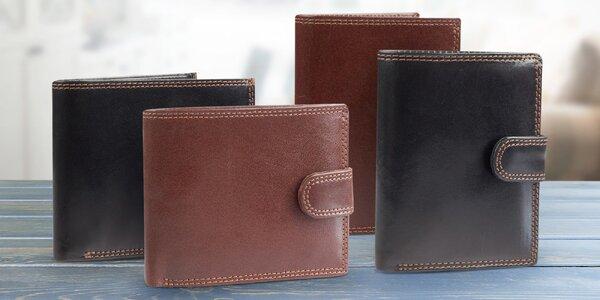 Elegantní pánské peněženky z pravé kůže RR
