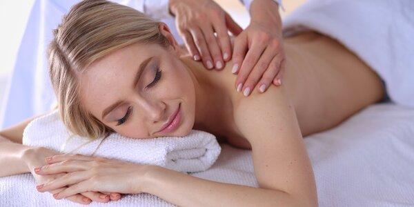 60minutová relaxační masáž i možnost sportovní